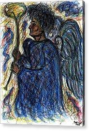 Angel With Horn Acrylic Print