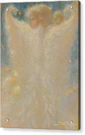 Angel With Wings From Behind Acrylic Print by John Murdoch