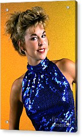 Angela Blue Formal Acrylic Print by Gary Gingrich Galleries