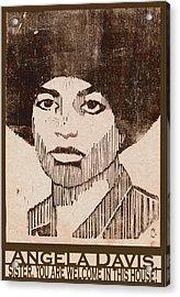 Angela Davis Acrylic Print by Ricardo Levins Morales