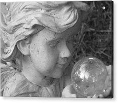 Angelic Gaze Acrylic Print by Bruce Carpenter