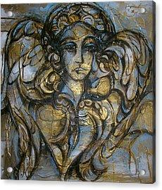 Angelic Sorrow Acrylic Print by Julie Lee