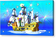 Angelic Voyage Acrylic Print by Mary Anne Ritchie