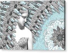 Angelica Hiberna - Angel Of Winter Acrylic Print by Christopher Beikmann