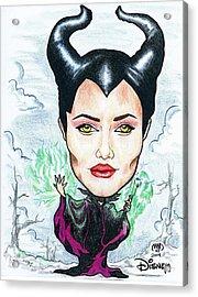 Angelina Joli - Maleficent Acrylic Print