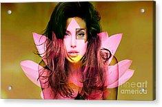 Angelina Jolie Painting Acrylic Print