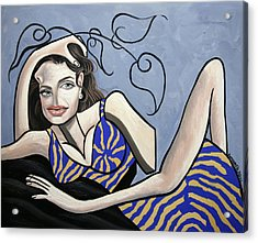 Angelina Jolie You Been Cubed Acrylic Print by Anthony Falbo