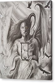 Angels And Demons Acrylic Print by Amber Stanford