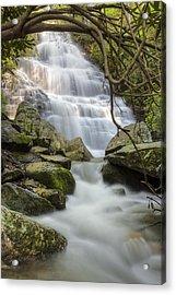 Angels At Benton Waterfall Acrylic Print by Debra and Dave Vanderlaan