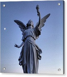 Angels At Sundown...cemetery  #cemetery Acrylic Print