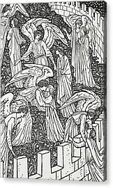 Angels Behind The Inner Sanctuary Acrylic Print by William Morris