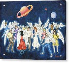 Angels Dancing Acrylic Print by Linda Mears