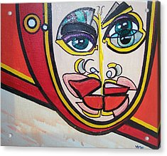 Angel's Giggle Acrylic Print by Valerie Wolf