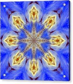 Angels In The Sky Mandala Acrylic Print