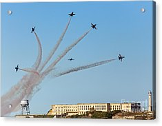 Angels Over Alcatraz Acrylic Print by Kate Brown