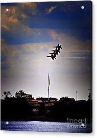 Angels Over Ft. Mchenry 2 Acrylic Print by Robert McCubbin