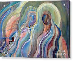 Angels Acrylic Print by Pamela Parsons