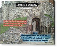 Angels To The Rescue Acrylic Print