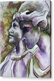 Angels Watching Over Acrylic Print by Janet Felts