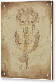 Acrylic Print featuring the painting Angelus Novus by Paul Klee