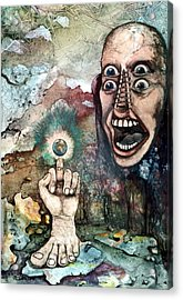Acrylic Print featuring the painting Anger Of Archon by Mikhail Savchenko