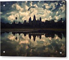 Angkor Wat Sunset Acrylic Print by Kim Andelkovic