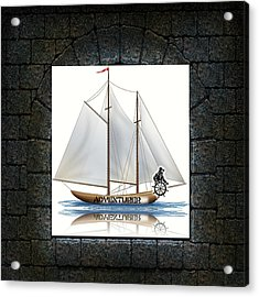 Angle Of View Acrylic Print by Museum Quality Prints -  Trademark Art Designs