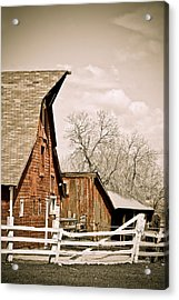Angle Top Barn Acrylic Print by Marilyn Hunt