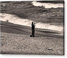 Angler Acrylic Print by Bob Wall