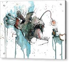 Angler  Acrylic Print by Michael Pattison