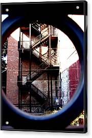 Angles Of Iron Acrylic Print by Misty Herrick