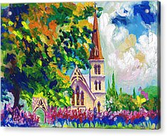Anglican White Church In Summer Acrylic Print