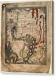 Anglo-saxon World Map Acrylic Print