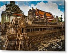 Angor Wat Miniature Acrylic Print by Inge Johnsson