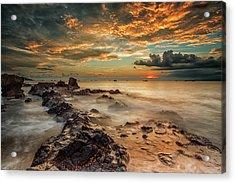 Angry Beach Acrylic Print