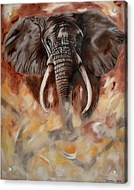 Angry Elephant Acrylic Print by Jamal Al Jomaily