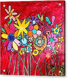 Angry Flowers Acrylic Print