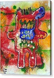Angry Kennybot Acrylic Print by Kenny Henson