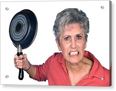 Angry Mother And Frying Pan Acrylic Print