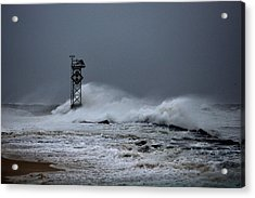 Acrylic Print featuring the photograph Angry Ocean In Ocean City by Bill Swartwout