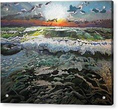 Angry Ocean Acrylic Print