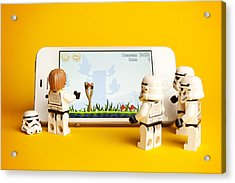 Angry Birds Storm Troopers Acrylic Print