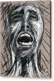 Anguish Acrylic Print by Jessica Sturges