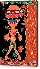 Anguished Scream V1 Acrylic Print by Kenneth James