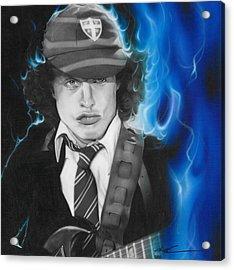Angus Young - ' Angus ' Acrylic Print by Christian Chapman Art
