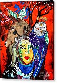 Animal Basket Acrylic Print by Amy Sorrell