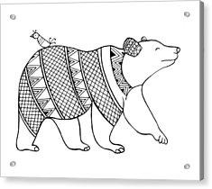 Animal Bear Acrylic Print by Neeti Goswami