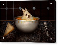 Animal - Bunny - There's A Hare In My Soup Acrylic Print by Mike Savad