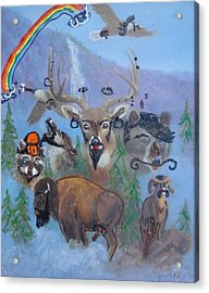 Acrylic Print featuring the painting Animal Equality by Lisa Piper