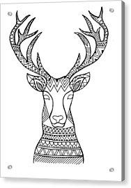 Animal Head Deer Acrylic Print by Neeti Goswami